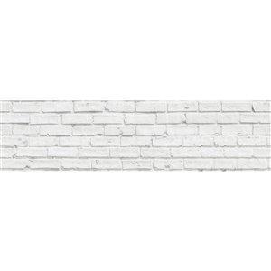 Dosseret en briques blanches