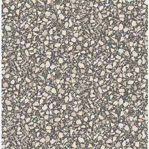 Papier peint Aldrich Terrazzo de Fine Decor, noir