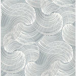 Papier peint géométrique Karson Swirling de A-Street Prints, ardoise