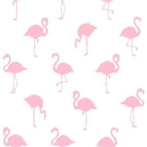 Papier peint Lovett Flamingo de ESTA Home, rose