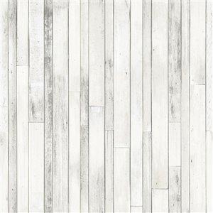 Papier peint Azelma Wood de ESTA Home, ivoire