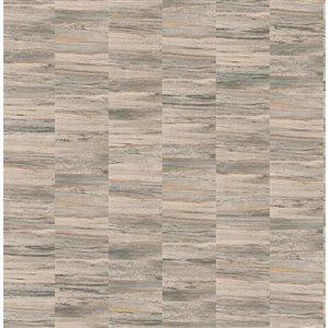 Papier peint Hugo Faux Wood de Fine Decor, brun clair