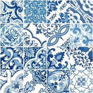 Papier peint Cohen Tile de ESTA Home, bleu