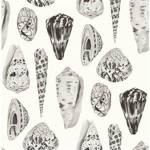 Papier peint Coquina Self Adhesive de Scalamandre, graphite