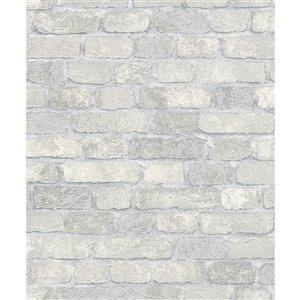 Papier peint Granulat Stone de Marburg, blanc cassé