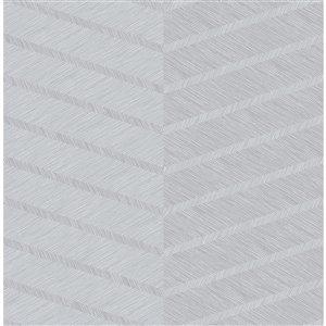 Papier peint Aspen Chevron de A-Street Prints, gris