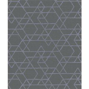 Papier peint géométrique Montego de Marburg, gris foncé