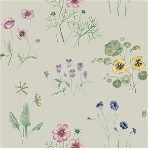 Papier peint Maj Wildflower de Midbec, gris