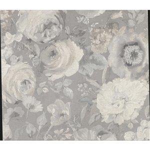 Papier peint Miranda Painted Florals de Advantage, gris