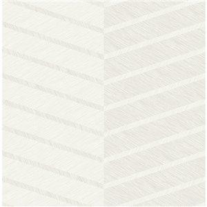 Papier peint Aspen Chevron de A-Street Prints, blanc