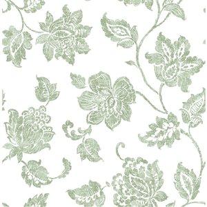 Papier peint Guy Jacobean de Advantage, vert