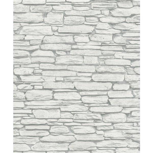Papier peint Kamen Stone de Marburg, gris pale