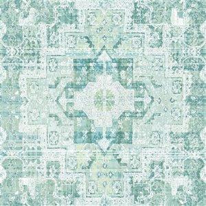 Papier peint détressé Desmond Medallion ESTA Home, turquoise