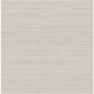 Papier peint Barnaby Faux Grasscloth de A-Street Prints, gris pâle