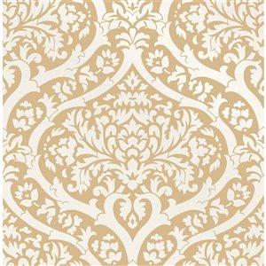 Papier peint Sandringham Damask de Fine Decor, moutard