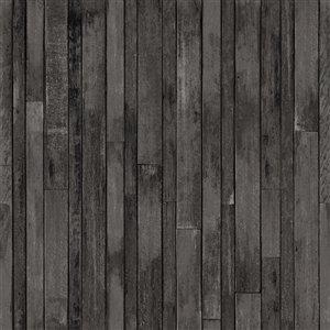 Papier peint Azelma Wood de ESTA Home, charbon
