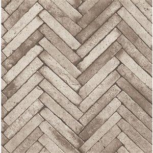 Papier peint Ryon Diagonal Slate de Fine Decor, beige