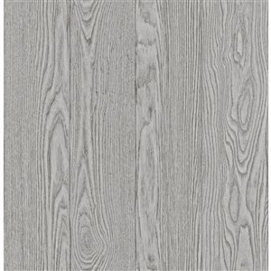 Papier peint Timber Peel and Stick de NuWallpaper, gris