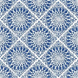 Papier peint Maureen Medallion de ESTA Home, bleu