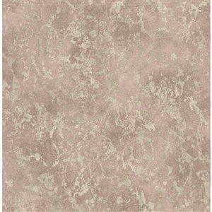 Papier peint Imogen Faux Marble de Fine Decor, rose claire