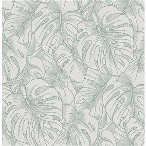 Papier peint Balboa Botanical de A-Street Prints, olive