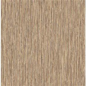 Papier peint Kofi Faux Grasscloth de Fine Decor, brun