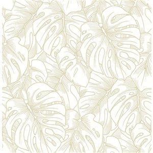 Papier peint Balboa Botanical de A-Street Prints, or