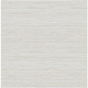 Papier peint Barnaby Faux Grasscloth de A-Street Prints, blanc cassé