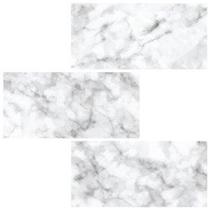 Subway Carrara Peel & Stick Backsplash Tiles