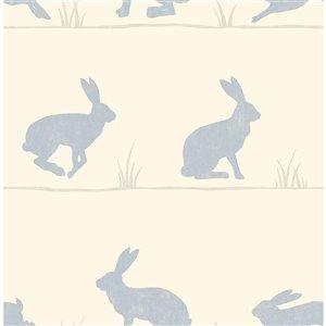 Papier peint Nell Rabbit de Fine Décor, beige