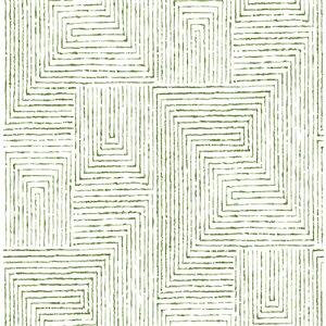 Papier peint Merritt Geometric de A-Street Prints, vert