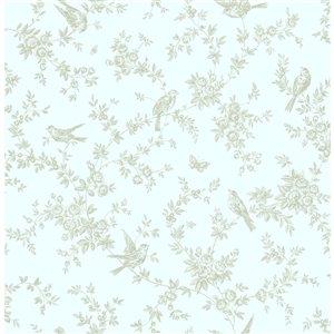 Papier peint Mafra Floral Trails de Brewster, vert