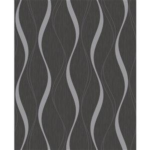 Papier peint Brody Geometric de Fine Decor, charbon