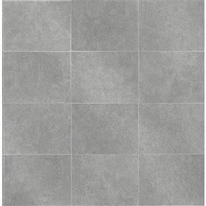 Papier peint Cecelia Geometric de Fine Decor, gris