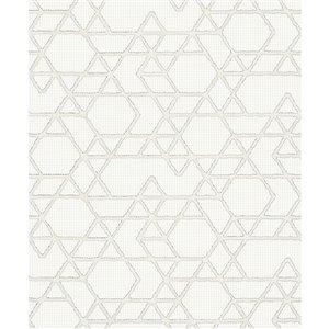 Papier peint Montego Geometric de Marburg, blanc cassé
