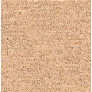 Papier peint Henrique Faux Cork de Fine Decor, orange