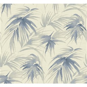 Papier peint adhésif Darlana Grasscloth de A-Street Prints, bleu