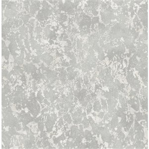 Papier peint Imogen Faux Marble de Fine Decor, gris clair