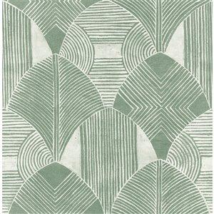 Papier peint géométrique Westport de A-Street Prints, vert