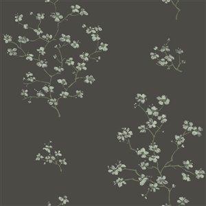 Papier peint Morrible Floral de ESTA Home, noir