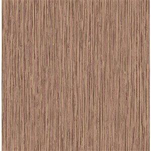 Papier peint Kofi Faux Grasscloth de Fine Décor, brun