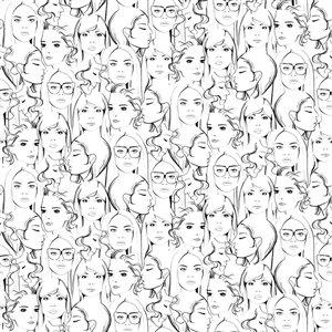 Papier peint Buckley Face Collage de ESTA Home, blanc cassé