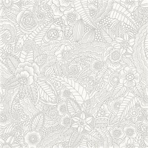 Papier peint Schunard Floral de ESTA Home, blanc cassé