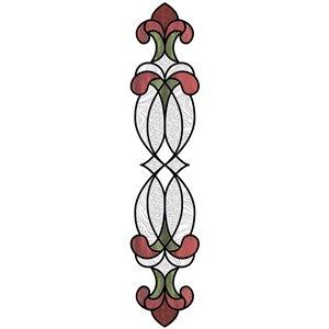 Sticker vitrail Hanover rouge lot de 2