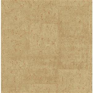 Papier peint Jules Faux Cork de Fine Decor, brun clair