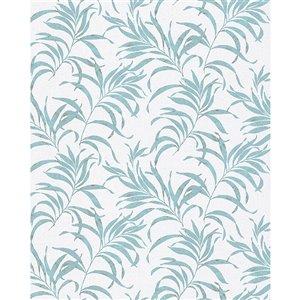 Papier peint Valentina Leaf de Marburg, bleu