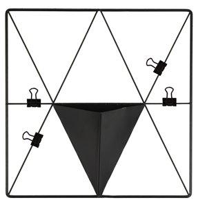 WallPops Triangle Metal Grid with Pocket - Matte Black