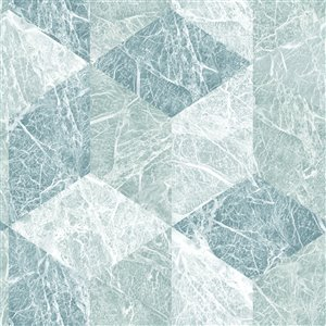 Origin Rizzo Geometric Stone Wallpaper - Light Blue