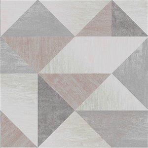 Papier peint Exeter Geometric de Brewster, gris