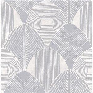 Papier peint géométrique Westport de A-Street Prints, étain